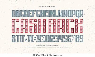 vintage cash - vintage money alphabet letters and numbers....