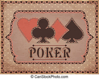 Vintage casino background, vector