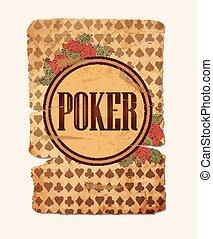 Vintage casino poker backround