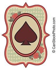 Vintage casino poker spades card