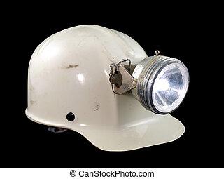 Vintage Caving Helmet - Vintage caving / mining hard hat...