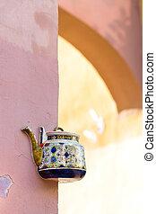 Vintage ceramic teapot. Vilnius, Lithuania