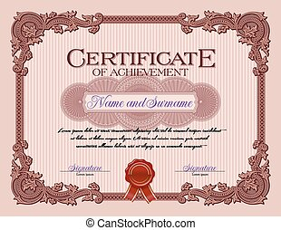 Vintage Certificate of Achievement