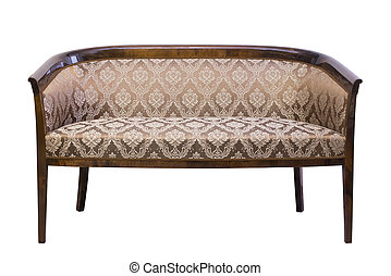 Vintage Chair sofa isolated on white background