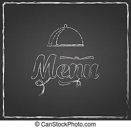 vintage chalkboard menu design with coffee cup