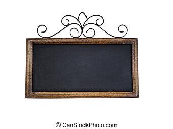 Vintage chalkboard on white background