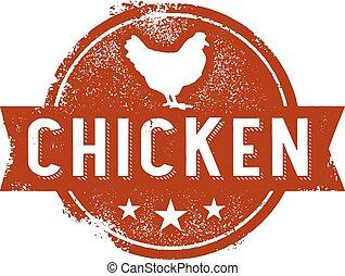 Vintage Chicken Sign