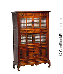 Vintage Chinese cabinet (clipping path)