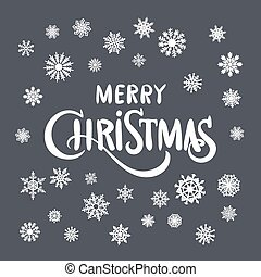 Vintage Christmas And New Year Typographical Background On Blackboard With Chalk