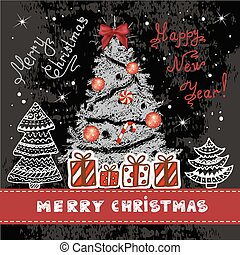 vintage christmas background 1