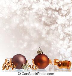 Vintage Christmas background with Christmas balls