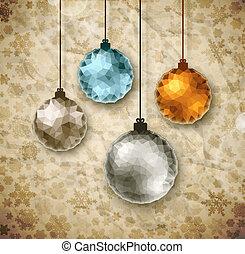 Vintage Christmas balls, eps 10
