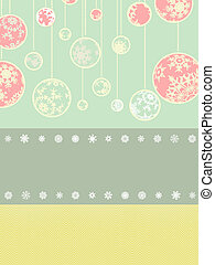 Vintage christmas card template. EPS 8