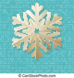 Vintage Christmas card with polka dot and snowflake. EPS 10
