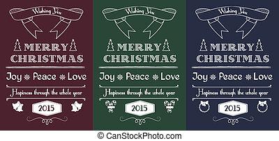 vintage Christmas cards set