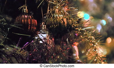 Vintage christmas decoration on the tree