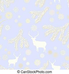 Vintage christmas deer, seamless. EPS 8
