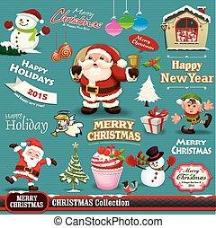 Vintage Christmas design set