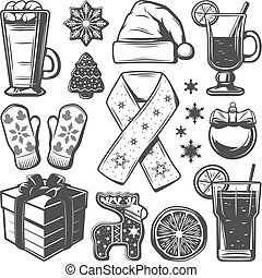 Vintage Christmas Elements Collection