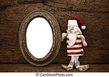 Vintage Christmas empty frame