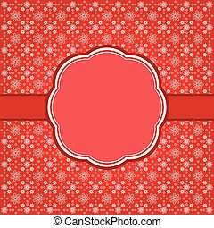 Vintage christmas frame background