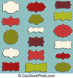 vintage christmas labels - vintage labels set for christmas...