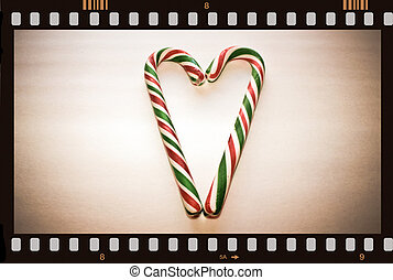 Vintage Christmas movie. - Vintage Christmas movie with two...