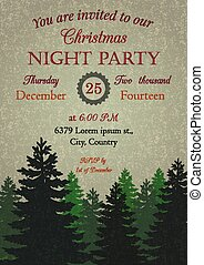 Vintage Christmas Party Invitation