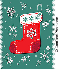 Vintage Christmas Patchwork Sock