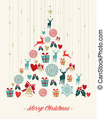 Vintage Christmas pine tree background