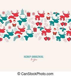 vintage christmas reindeer seamless