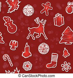 Vintage Christmas seamless background. EPS10 vector