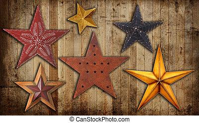 Vintage Christmas stars