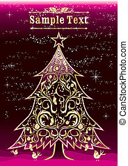 Vintage christmas tree design