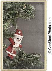 Vintage christmas tree ornament Santa Claus