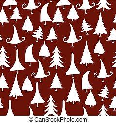 vintage christmas trees icons