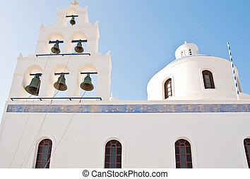Vintage church in Oia, Santorini, Greece