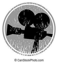 Vintage cinema icon - Creative design of vintage cinema icon