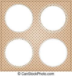 Vintage circle frame layout