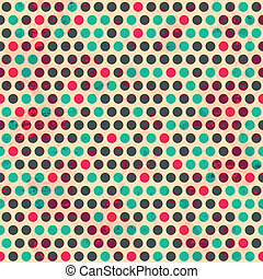 vintage circle seamless pattern with grunge effect