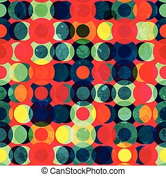 vintage circle seamless pattern with grunge effect