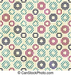 vintage circle seamless pattern with paper effect