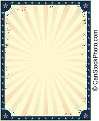 Vintage circus poster template.