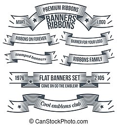 Vintage classic banners