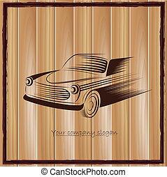 vintage classic sports car silhouettes, outlines, contours. Vector illustration