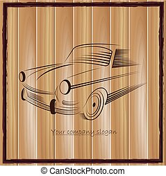 vintage classic sports car silhouettes, outlines, contours. Vector illustration