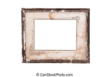 Vintage classical frame isolated on white background