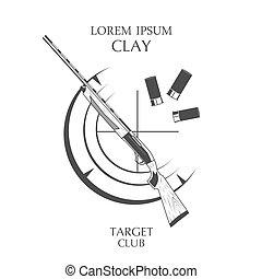 vintage clay target and gun club label