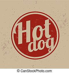Vintage Clip Art - Hot Dog