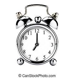 Vintage Clock Alarm Isolated
